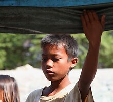 Young boy in Laos by Janette Anderson
