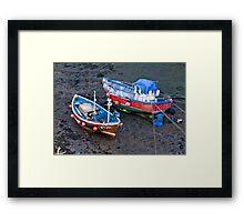 Flora Jane - Staithes Harbour. Framed Print