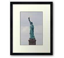 Statue of Liberty Profile Framed Print