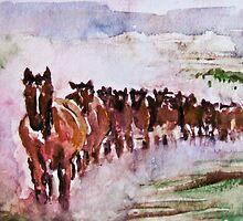 Wild Horses Running by Natalie Cardon