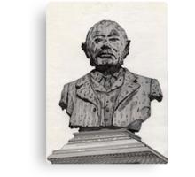 113 - MATTHEW WHITE RIDLEY STATUE - DAVE EDWARDS - INK - 1985 Canvas Print
