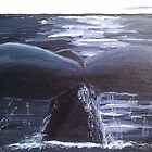 Whale Fin in the Moonlight by Esther Nadeau