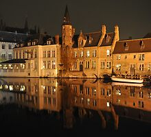 Bruges Terreced Reflection by markjknight