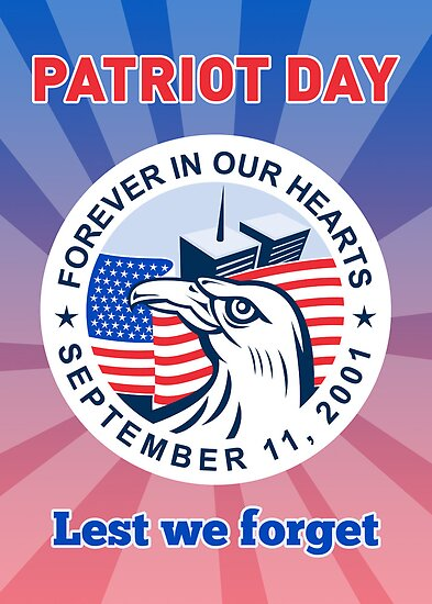 9-11 Patriots Day American Eagle Flag WTC  by patrimonio