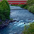 The Office Covered Bridge in the Oregon Cascades by OrPhotoJohn