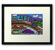 Outer City Traffic Framed Print