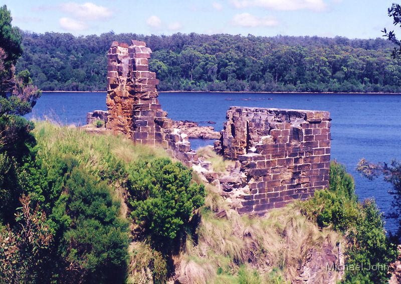 Historic House, Sarah Island, Tasmania by Michael John
