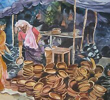 Clay Pot Seller by Akhilkrishna Jayanth