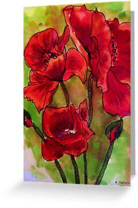 Poppy Glory by Angela Gannicott