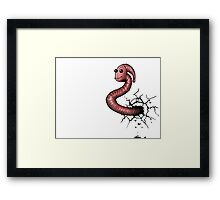 book worm Framed Print