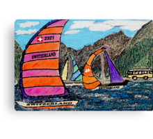 Swiss Sail Canvas Print