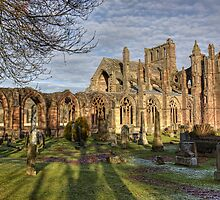 Melrose Abbey From The South by Lynne Morris