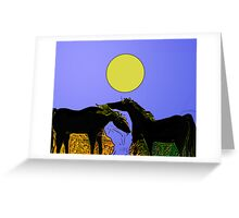 After the Gold Rush - River Pony Sun Greeting Card