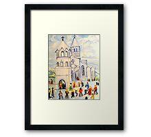 Little White Church, Ghazanchetsots Cathedral, Karabagh, Armenia Framed Print