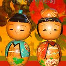 Japanese painted wooden dolls by Mary Taylor
