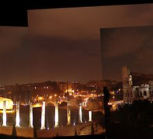 """""""Roma a le Notte - Rome Italy"""" by Omar  Mejia"""