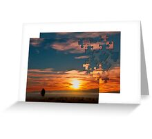 Sun Rise Jig Saw Greeting Card