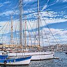 Marseille harbor by Chloé Ophelia Gorbulew