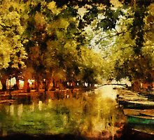 Annecy - Pont des Amours - Painted by Ann Garrett
