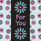 Sorbet floral 34 - For you Card by 1001cards