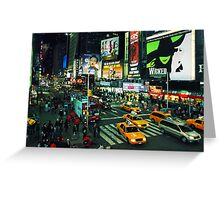 Busy Times Square Greeting Card