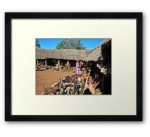 Chief Mukuni's Village Market. Framed Print