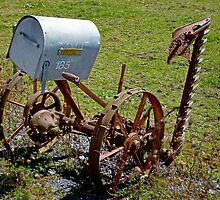 Old Farm Implement - Pioneer Post by ArundelArt