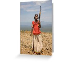 GIRL WITH AN AK47 Greeting Card
