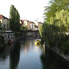 Ljubljana river scene by machka