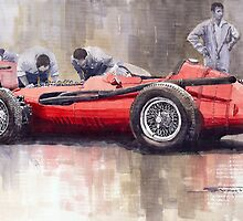 Final check before the start Maserati 250 F 1957 by Yuriy Shevchuk