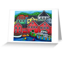 Colours of Lunenburg, Nova Scotia Greeting Card
