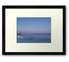 Early Morning in rural northern Illinois Framed Print