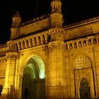 Gateway of India, Bombay at night by loewenherz
