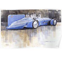 Bluebird world land speed record car 1931 Poster