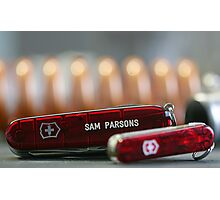 Swiss Army Knives Photographic Print