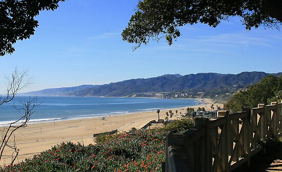 32-Santa Monica Bay from Palisades Park by Tedd Wenrick