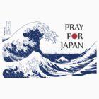 PRAY FOR JAPAN - Hokusai by Mariko Suzuki