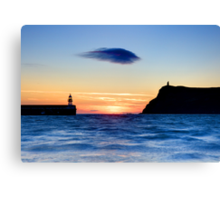 Lonely Cloud After Sunset Canvas Print