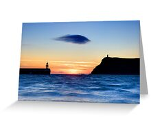 Lonely Cloud After Sunset Greeting Card