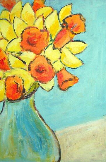 March daffodils by Sharon Williamson
