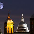St Pauls and Moon by Dean Messenger