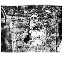 Brick Wall Jesus Poster