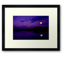 Super Moonset Framed Print