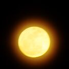 Lori Wells Photography-Supermoon with rings of yellow and red around it. by loriwellsphoto