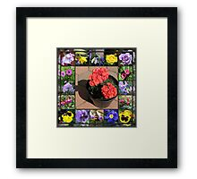 Sunshine and Showers Floral Collage Framed Print