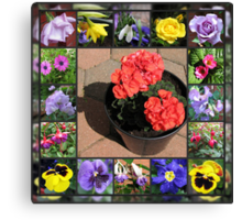 Sunshine and Showers Floral Collage Canvas Print