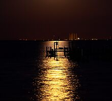 Super Moon Over Kennedy Space Center by mimsjodi