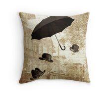 magritte meets pushkin Throw Pillow