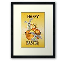 Happy Easter .. bunny style Framed Print