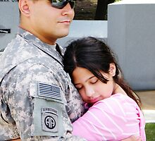 A Soliders love for his daughter  by lisaannreyes